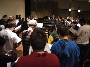 Brian Kittredge Rehearsing _Voices of Freedom_ in BirminghamAL